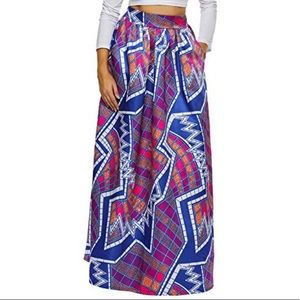 Dresses & Skirts - Plus Size Tribal Style Print Maxi Skirt